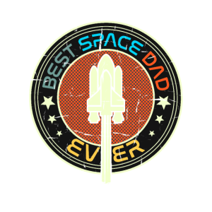 Best Space Dad Ever - Outer Space Birthday Gift
