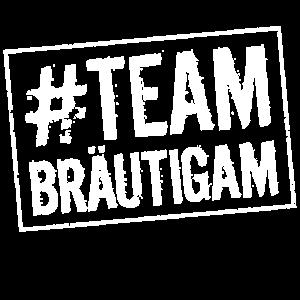 Team Bräutigam hashtag stempel