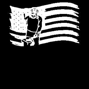 American Flag Blacksmith Shirt - Schmiedegeschenk -