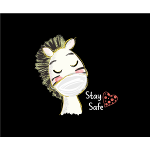 Zebra Face Mask Stay Safe ❤