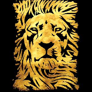 Löwe - Gold - Löwenkopf - Wild cat