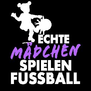 Echte Mädchen spielen Fussball - Kicker Mannschaft