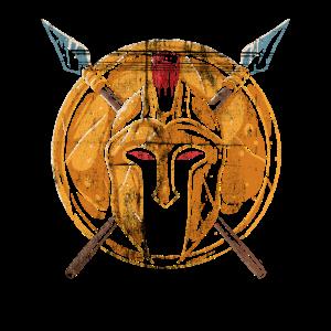 Spartaner Krieger Spartanischer Kämpfe Helm