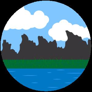 Landschaft Kreis Hintergrund