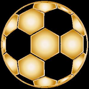 vergoldetes Fußball Muster