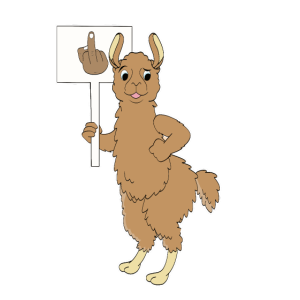 Lustig Llama Alpaka Provokativ Geschenk