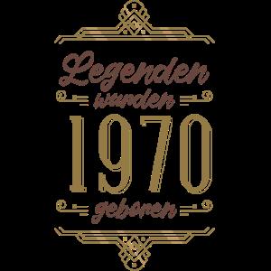 Geschenk 50er Geburtstag - Legenden 1970 geboren