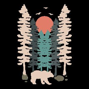 Bär Landschaft Natur Wandern Geschenkidee