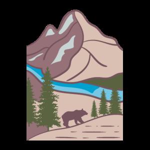 Bär Berge Landschaft Natur Wandern Geschenkidee