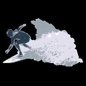 Surfen und Wellenreiten im Meer