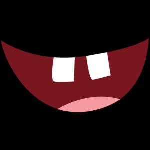 lustiger Mund mit Zähnen