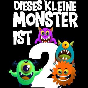 2. Geburtstag Junge Kleines Monster 2 Jahre
