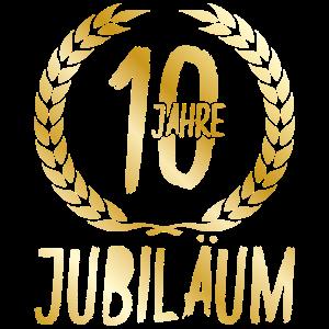 10 Jahre Jubiläum Gold