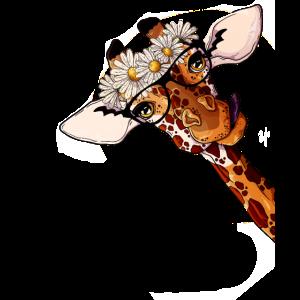 Giraffen Giraffe mit Brille