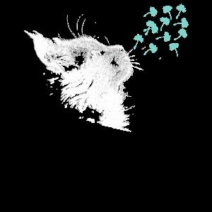 Pusteblume Katze Löwenzahn Blume mystisch Geschenk