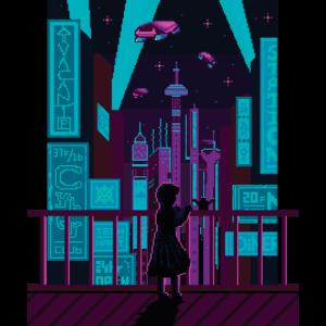 Synthwave Retrowave Pixel Art Vaporwave Outrun