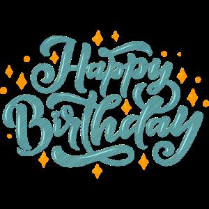 Alles Gute zum Geburtstag Schriftzug