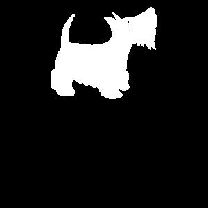 Süsser weisser Hund