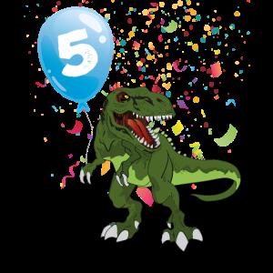 Ich bin 5 5. Kindergeburtstag Dino Dinosaurier