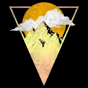 Berge Sonne Natur Wandern
