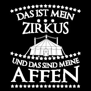 Zirkus Witz Zirkusdirektor Affe Geschenk Witz