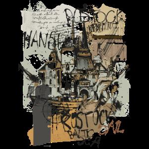 Rostock Collage braun