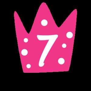 Geburtstag 7 Jahre Geschenk Mädchen Prinzessin