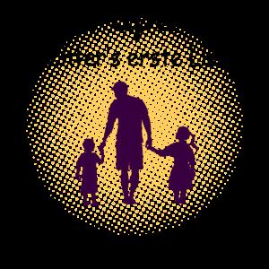 Papa Sohn und Tochter