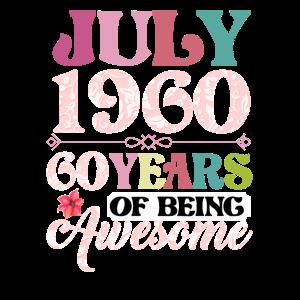Juli 1960 60 Jahre Awesome