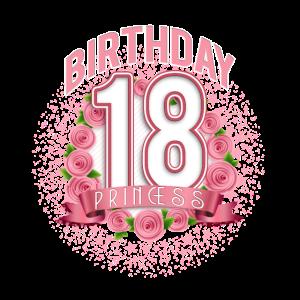 18. Geburtstag Mädchen Prinzessin T-Shirt werden 18 Jahre