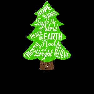 Weihnachtsbaum-Wortkunst Weihnachtswort-Kunst