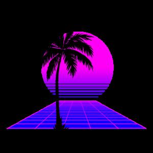 Lila 80er Sonnenuntergang