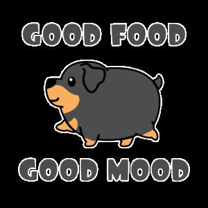 Dicker Rottweiler Hund Essen Lustiges Geschenk