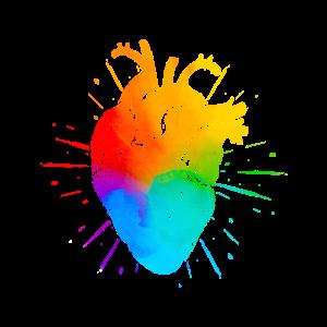 LGBT Rainbow Heart