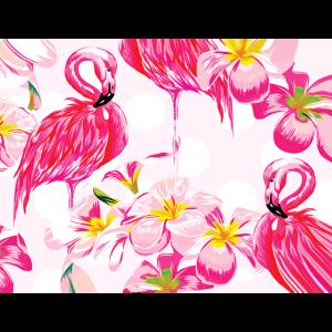 Flamingo Flamingos Blumen Blume Hawaii Sommer rosa