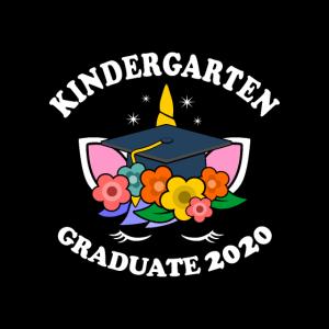 Kindergarten Graduate 2020 Gesichtsmaske Schulkind