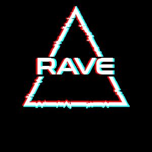 Rave wear Techno Hardstyle Glitch Geschenk Retro