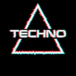 Techno Music Glitch Effect Rave Wear Party