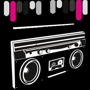 kassettendeck blaster boom music retro