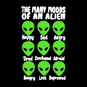 The Many Moods Of An Alien Lustige Außerirdische