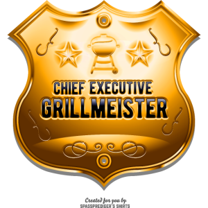 Grill T-Shirt Chief Executive Grillmeister Gold