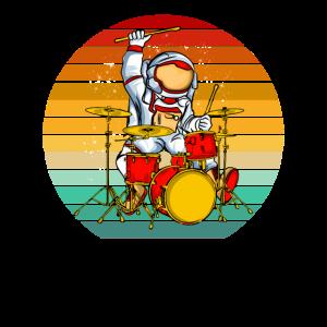 Schlagzeugspieler Astronaut Drummer Schlagzeug