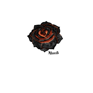 Aesthetic Fire rose Gothic Grunge Style
