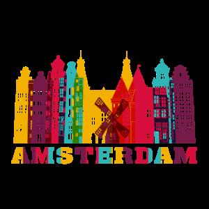 Amsterdam City Skyline Niederlande Wahrzeichen