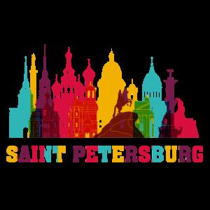 Sankt Petersburg Skyline Russland Wahrzeichen
