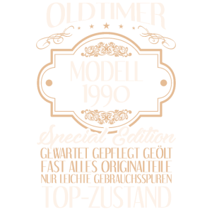 Mann 30. Geburtstag Männer Oldtimer Modell 1990