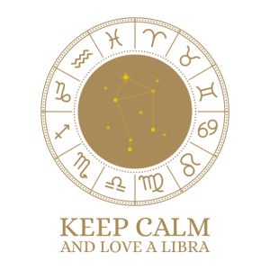 Sternbild Waage - Keep Calm and love a Libra