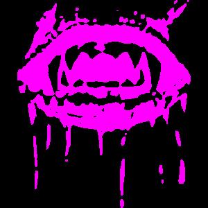 2reborn Zaehne Teeth Zombi Mund Biss Blutpink