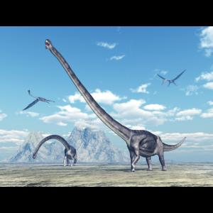 Omeisaurus und Quetzalcoatlus