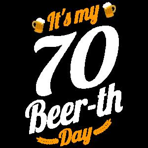 Es ist mein 70 Bier Tag Geburtstag Meilenstein lustig